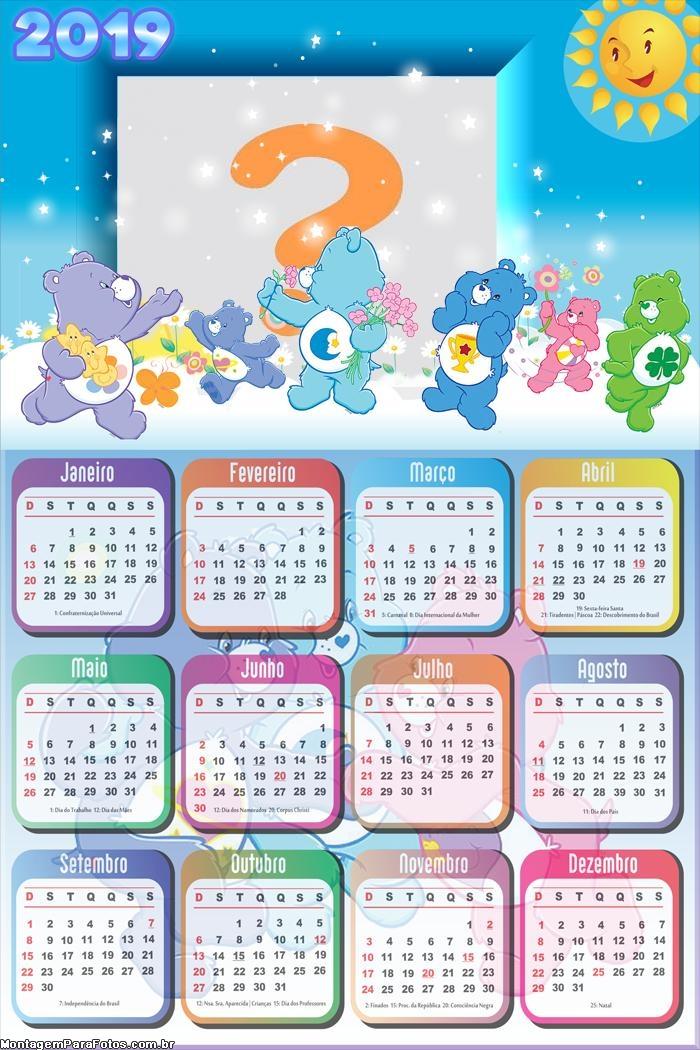 Calendário 2019 Ursinhos Carinhosos