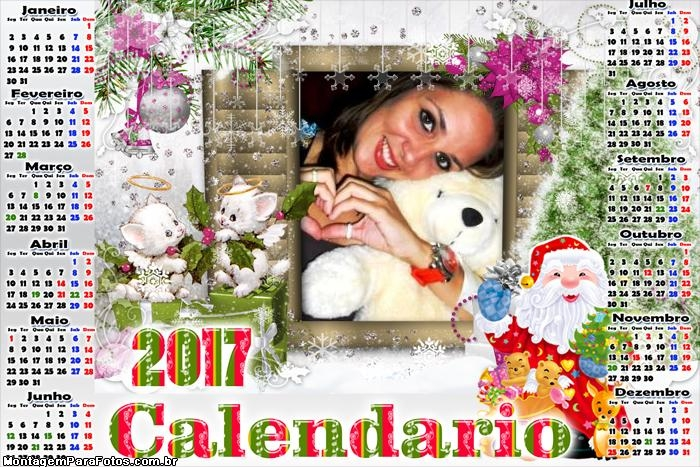 Calendário 2017 Gatinhos do Papai Noel