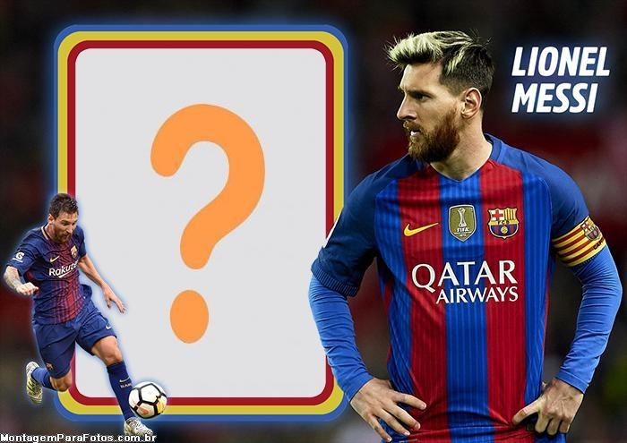 Colagem de Foto Lionel Messi Barcelona