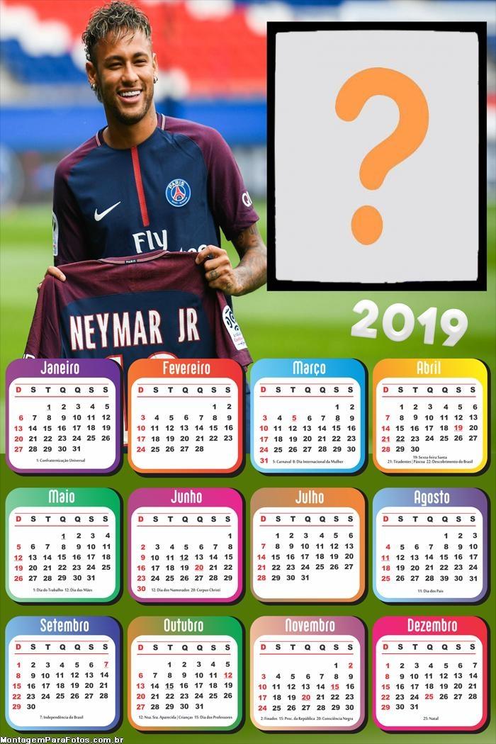 Calendário 2019 Neymar PSG