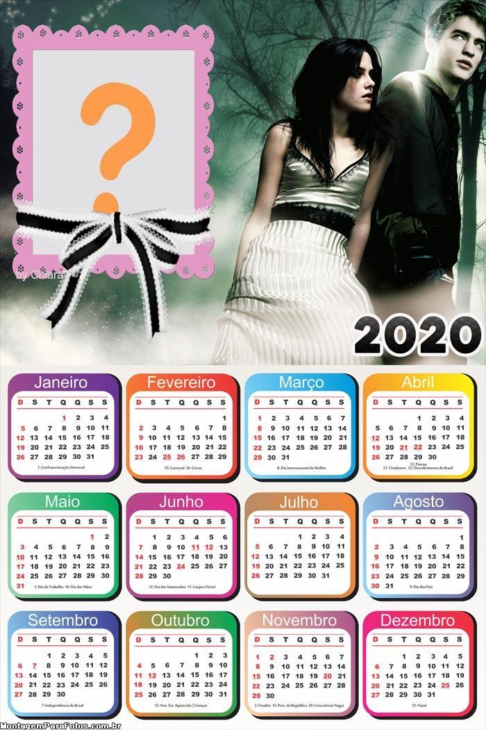 Calendário 2020 Bella e Edward