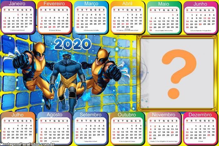 Fazer Montagens de Fotos Calendário 2020 Wolverine