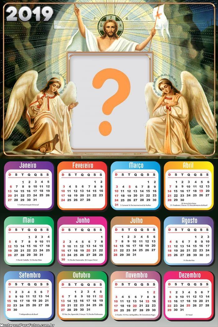 Calendário 2019 Jesus e Anjos