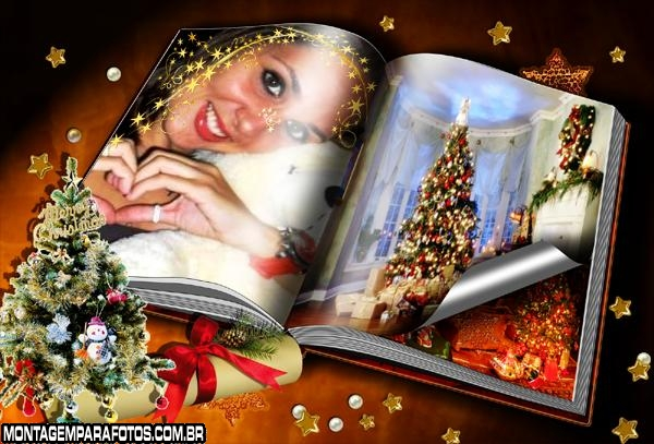 Moldura Livro de Natal