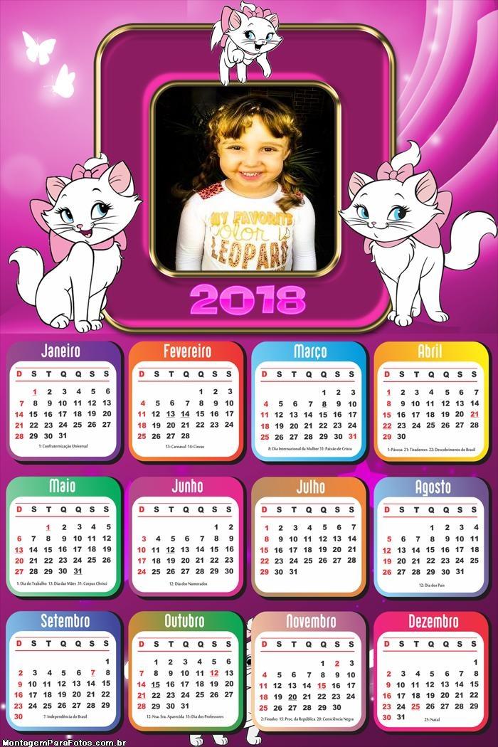 Calendário 2018 Gatinha Marie