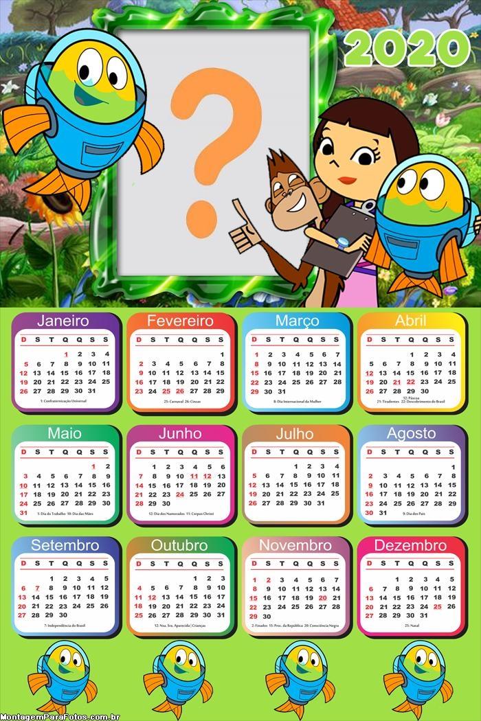 Calendário 2020 Peixonautas Moldura