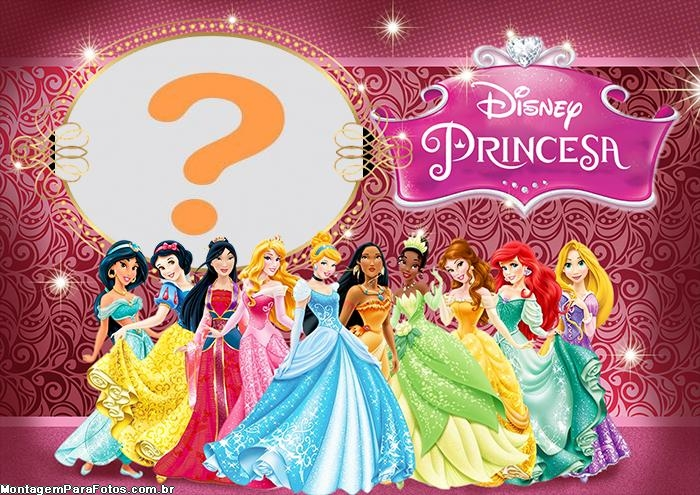 Colagem de Foto Princesas Disney