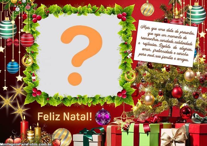 Cartão de Natal Colagem de Foto