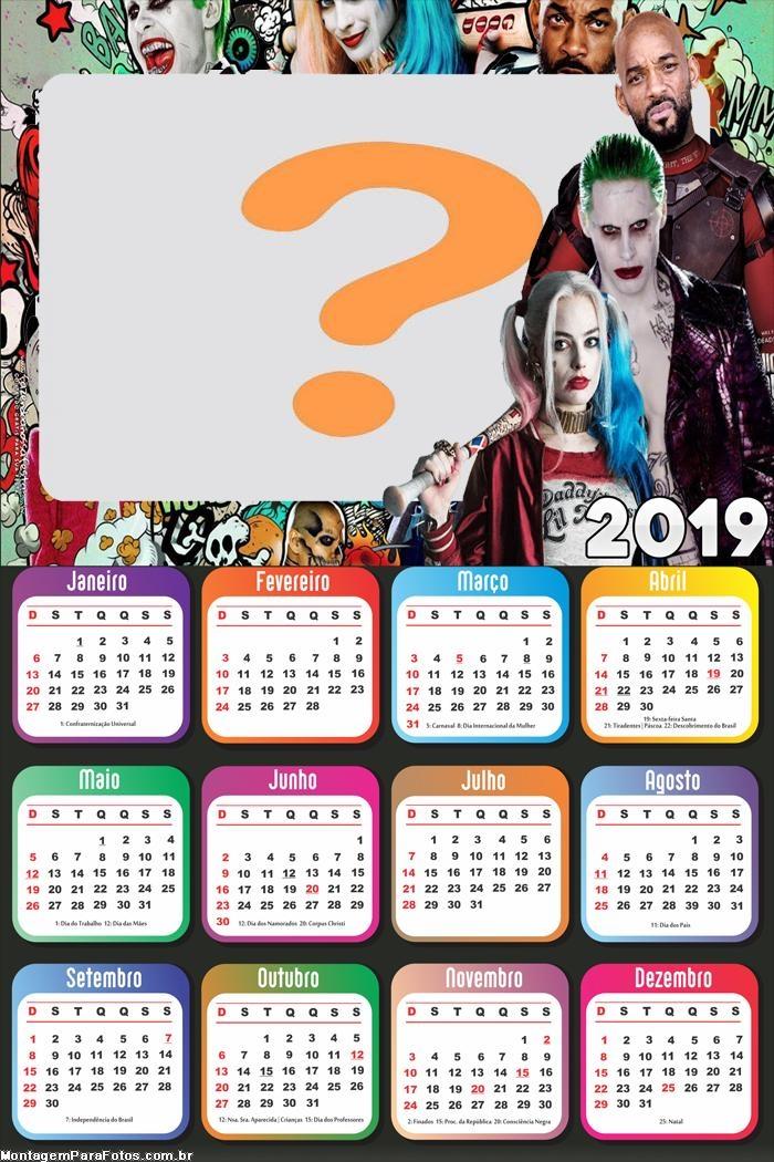 Calendário 2019 Esquadrão Sucida