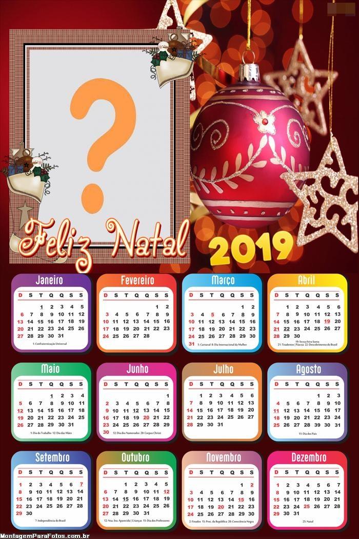 Calendário 2019 Enfeite Natalino