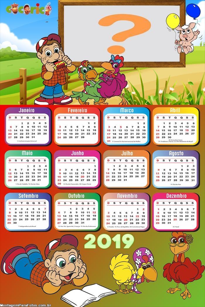Calendário 2019 do Ben 10