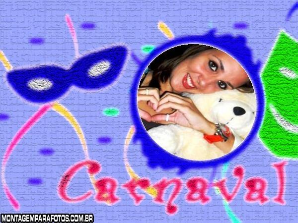Moldura Carnaval Máscaras