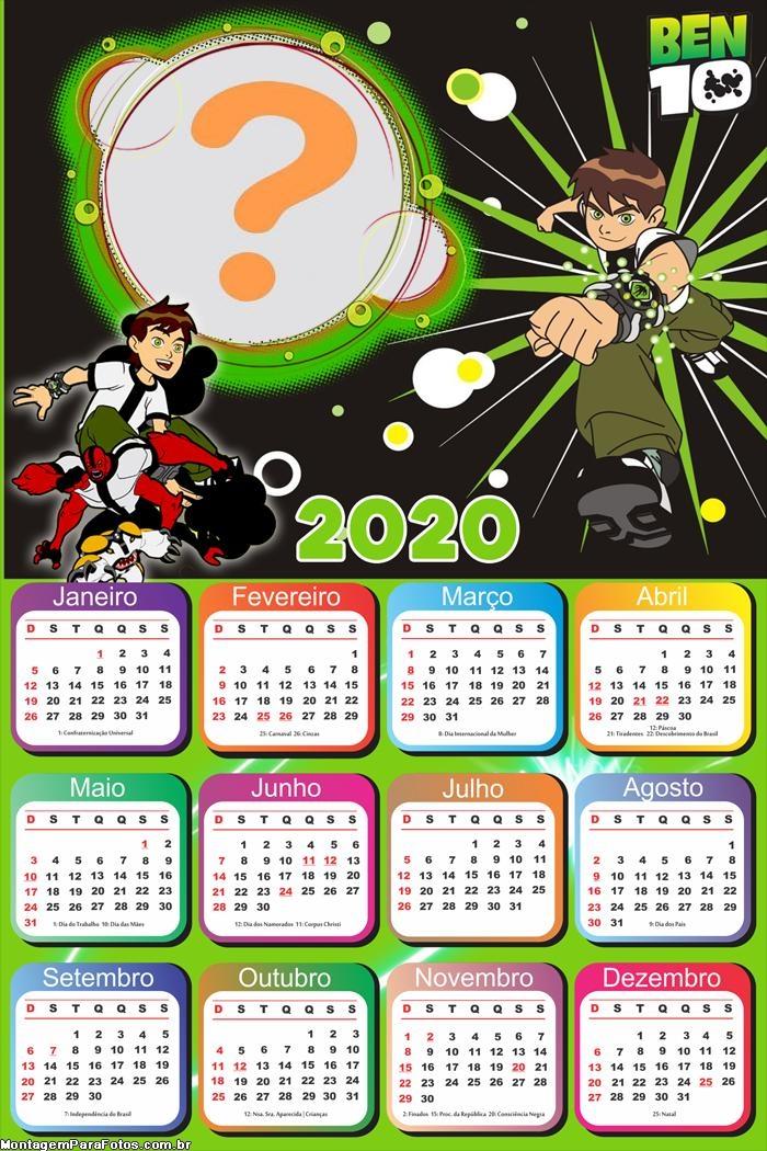 Foto Colagem Calendário 2020 Ben 10