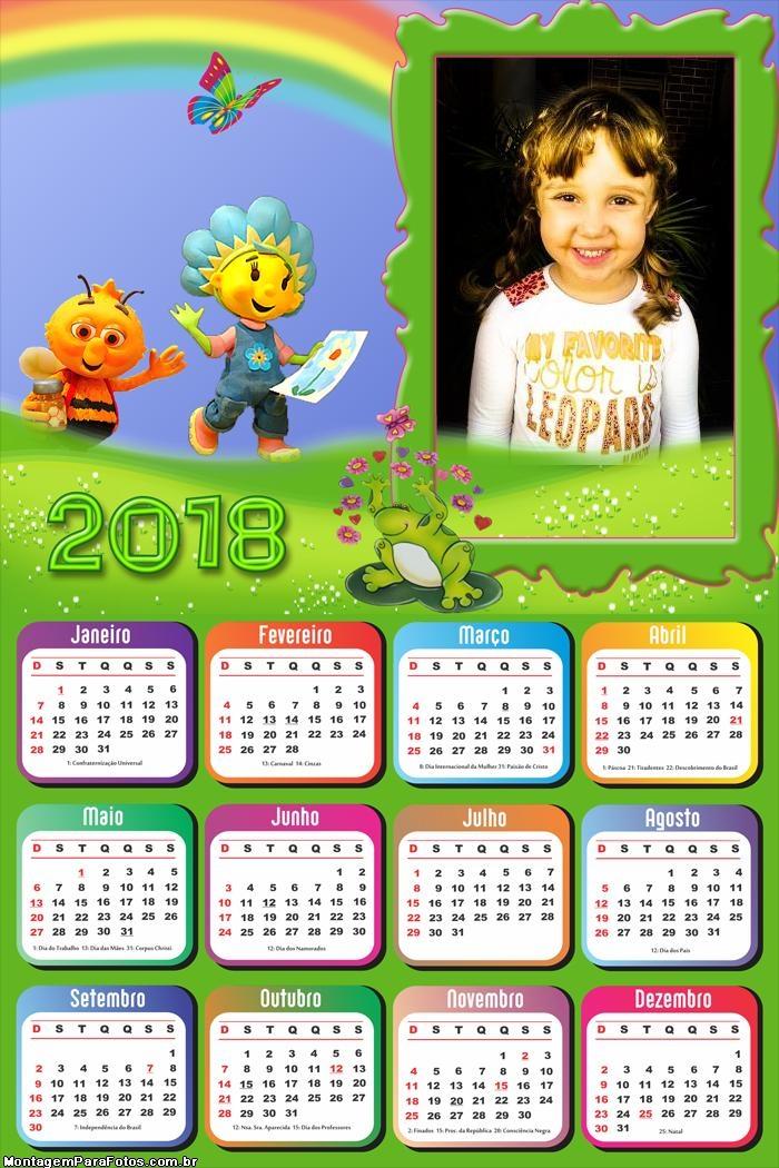 Calendário 2018 Floriguinhos Infantil