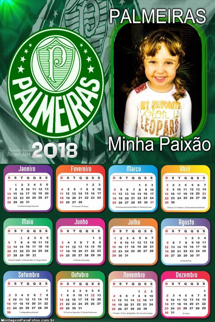 Calendário 2018 do Palmeiras