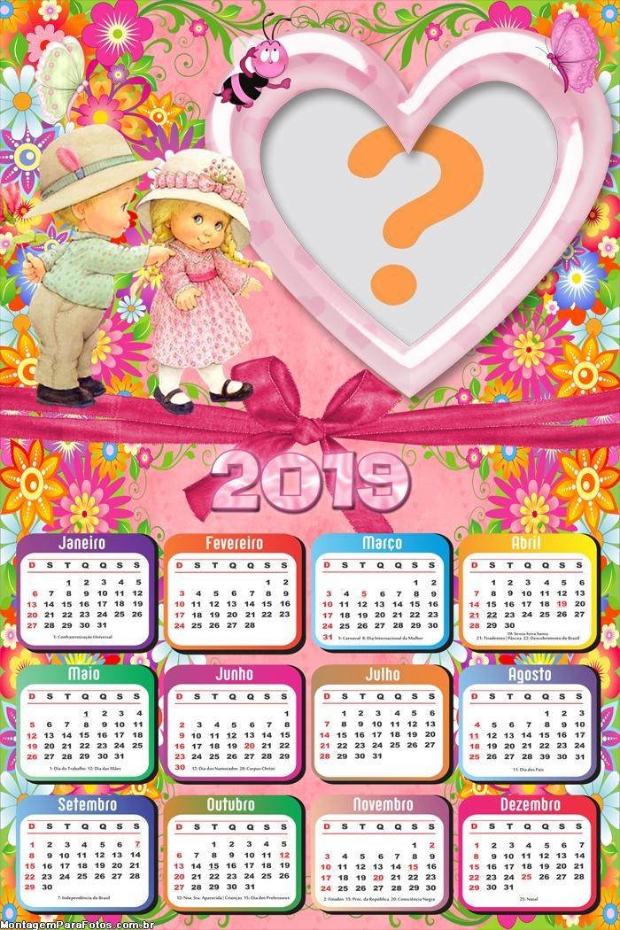 Calendário 2019 Crianças