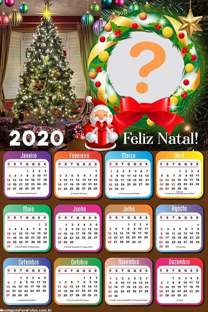 Calendário 2020 Guirlanda Natalina