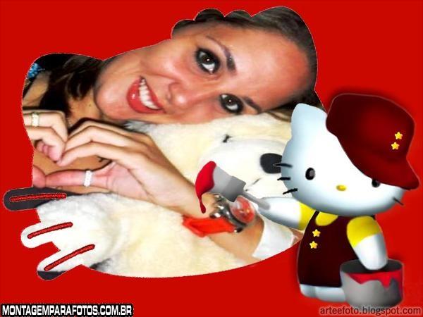 Moldura Hello Kitty Obra de Arte
