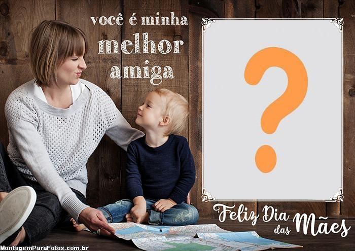 Emoldurar Foto de Feliz Dia das Mães Amiga
