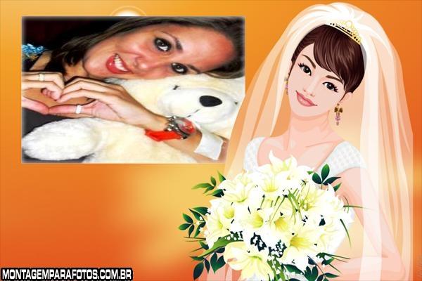 Desenho Noiva Romântica