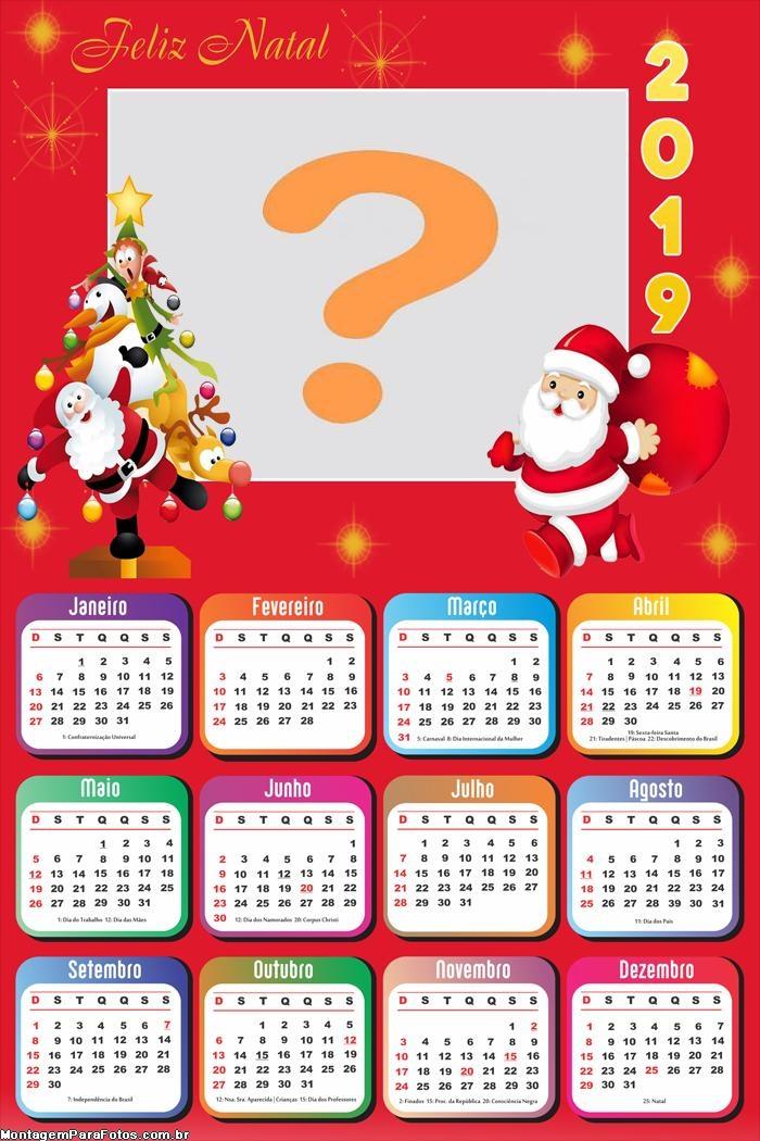 Calendário 2019 Árvore de Natal Feliz
