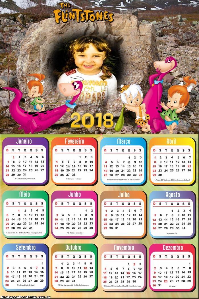 Calendário 2018 Dino dos Flintstones