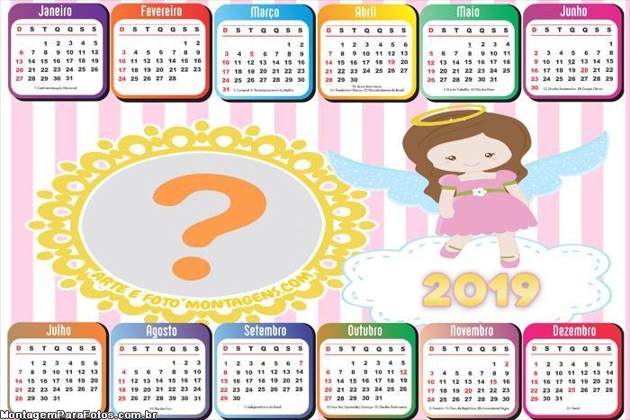 Calendário 2019 Realeza Feminino Horizontal
