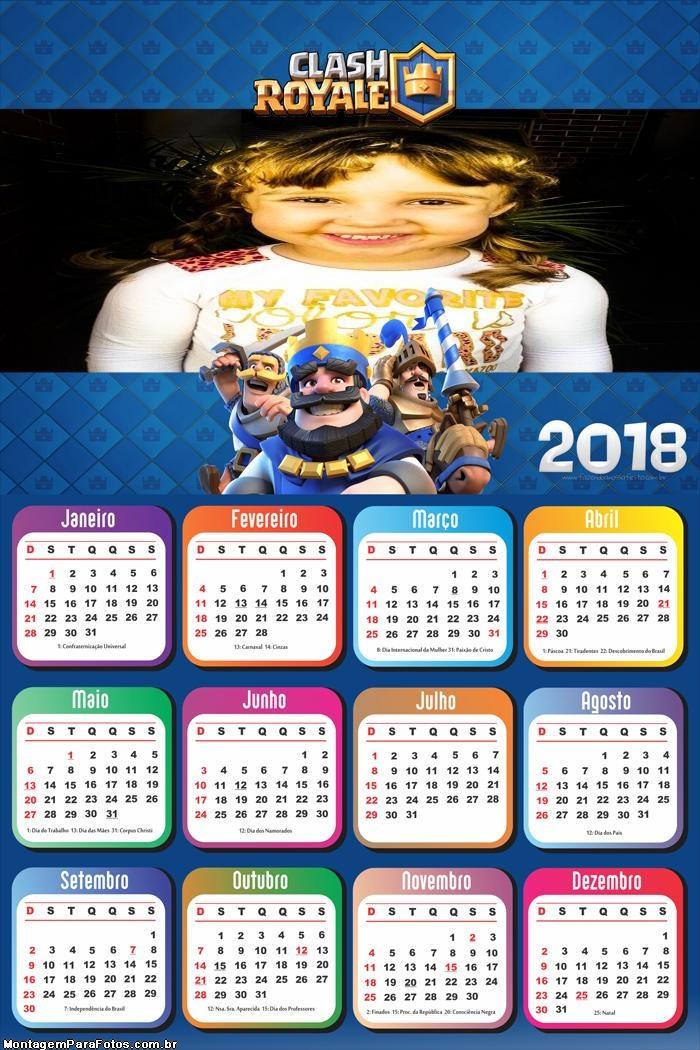 Calendário 2018 Clash Royale