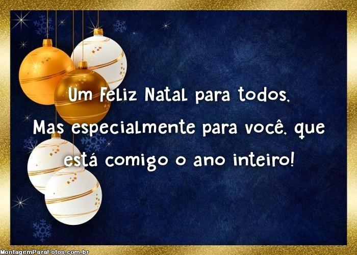 Feliz Natal especialmente para você