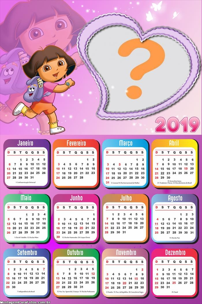 Calendário 2019 Dora