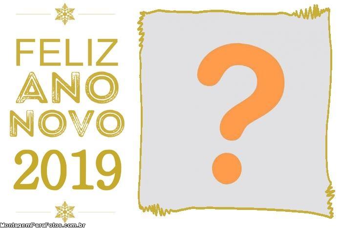 Colagem de Foto Feliz Ano Novo 2019