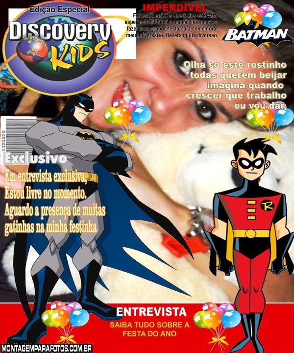 Convite Do Batman E Robin Montagem Para Fotos