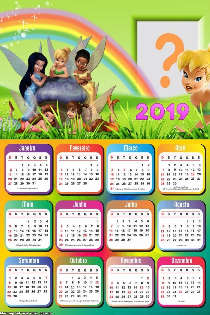 Calendário 2019 Fadinhas