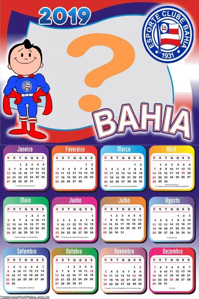 Calendário 2019 do Bahia Futebol