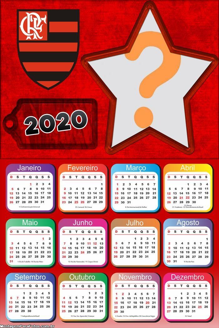 Calendario De 2020 Brasil.Moldura Calendario 2020 Flamengo Montagem Para Fotos