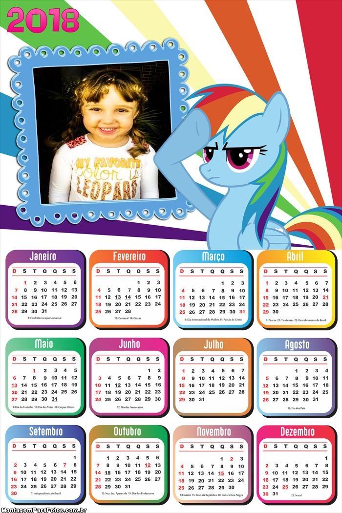 Calendário 2018 Little Pony