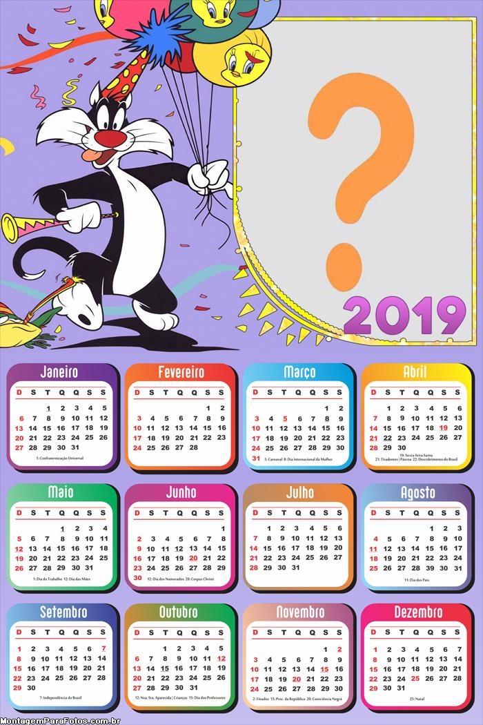 Calendário 2019 Aniversário Frajola