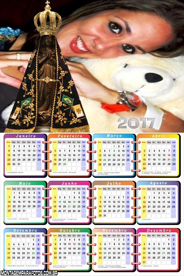 Calendário 2017 Imagem Santa Nossa Senhora