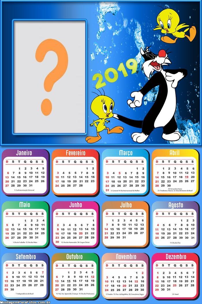 Calendário 2019 Frajola Piu Piu
