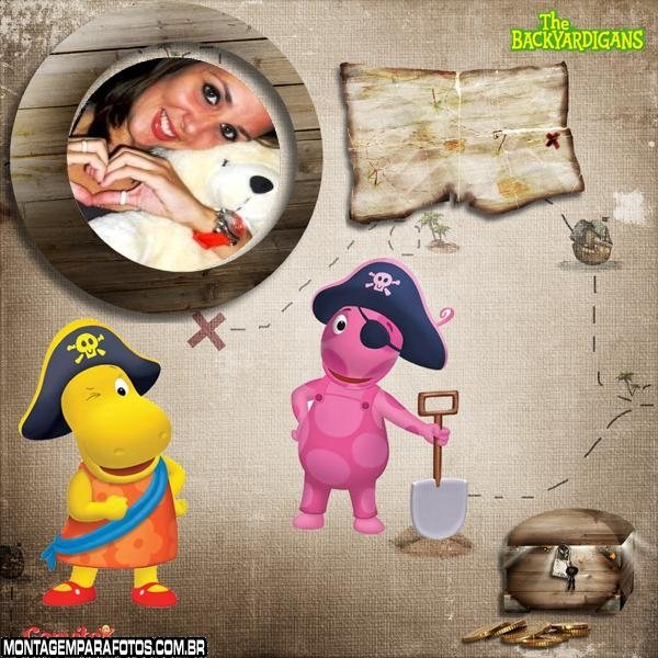 Brincando Pirata Backyardigans