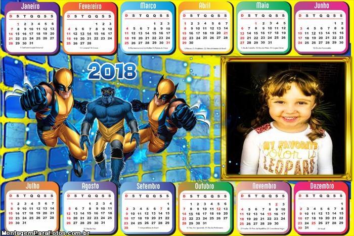 Calendário 2018 Horizontal Wolverine