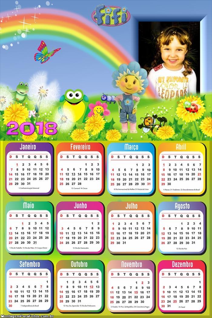Calendário 2018 FiFi Infantil