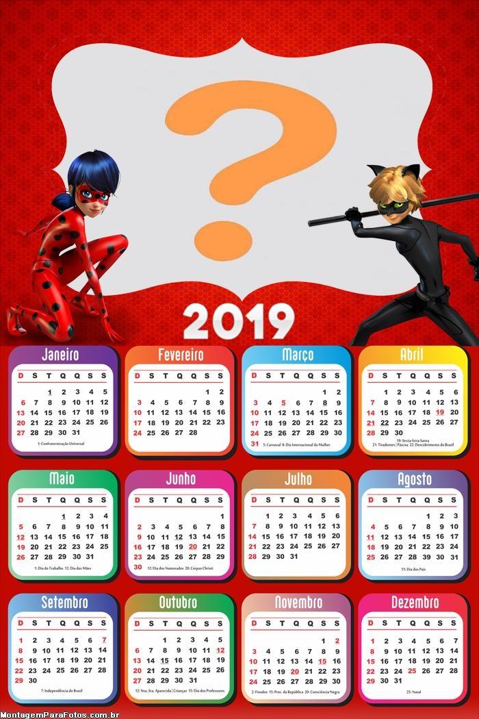 Calendário 2019 Ladybug