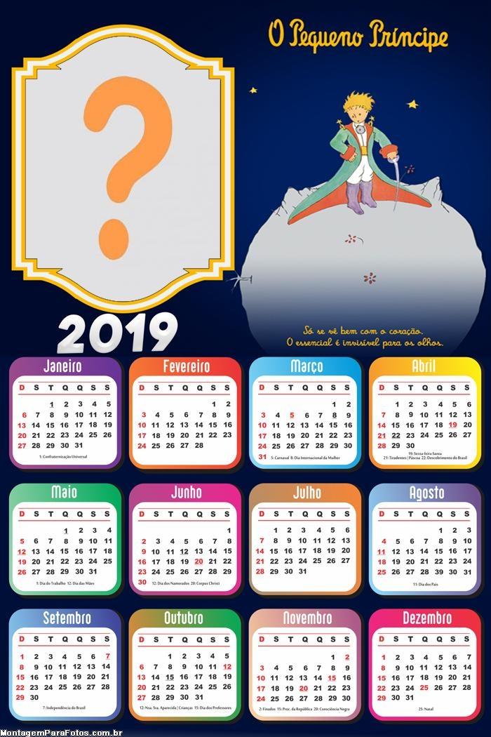 Calendário 2019 O Pequeno Príncipe Infantil