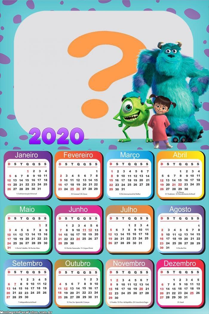 Calendário 2020 Mostro S A Molduras para Fotos