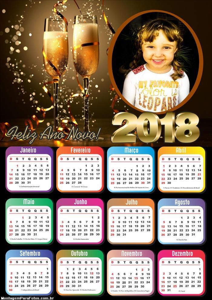 Foto Calendário 2018 Espumantes