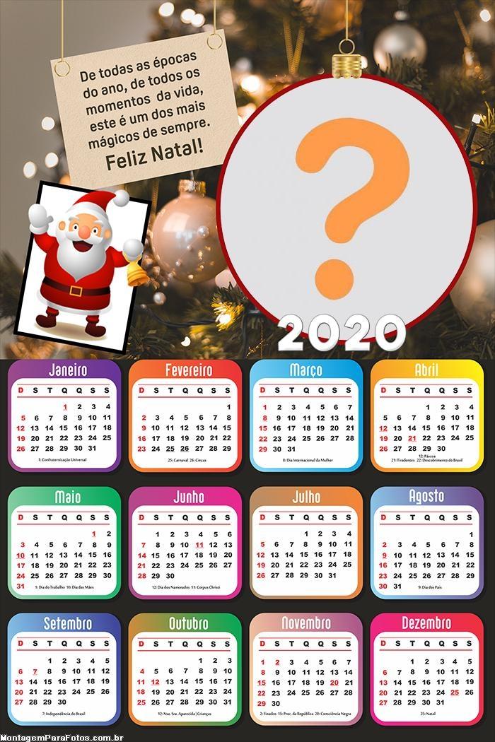 Calendário 2020 De todas as épocas do ano