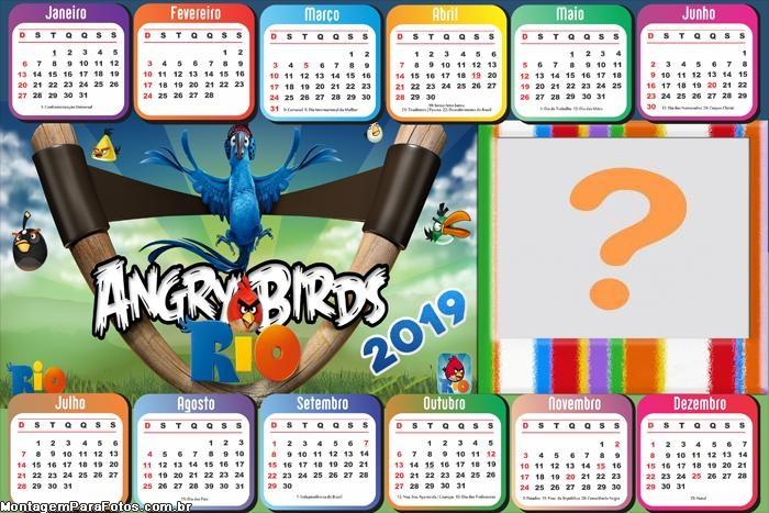 Calendário 2019 Angry Birds RIO Horizontal