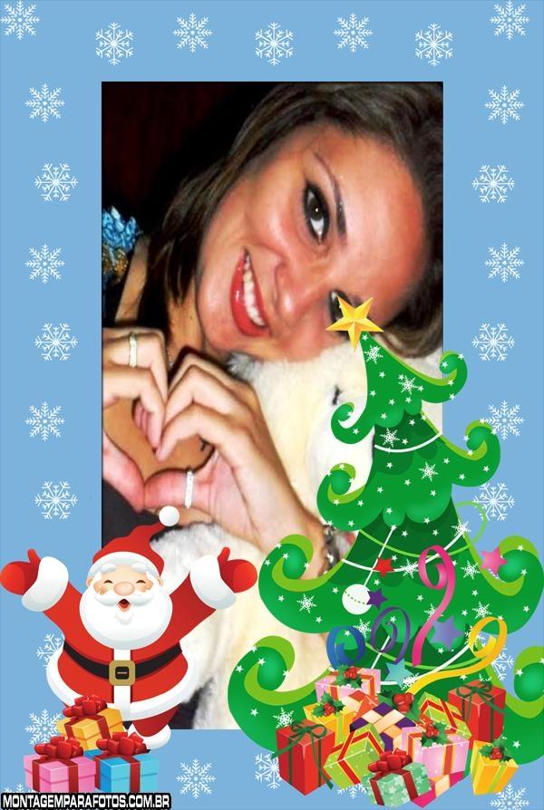 Moldura Feliz Papai Noel