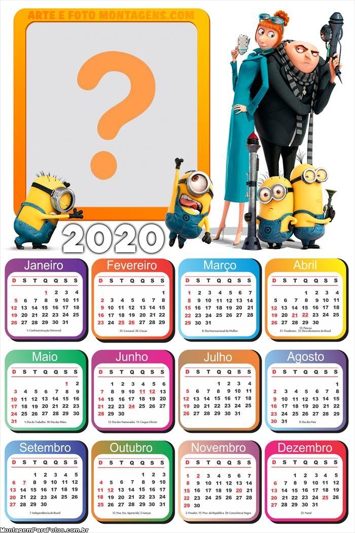 Calendário 2020 Meu Malvado Favorito
